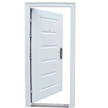 Haustur Tur Wohnungstur Eingangstur Sicherheitstur 96 X 205 Cm Weiss