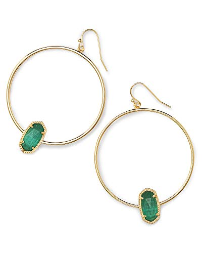 Kendra Scott Elora Earring Gold Emerald Cats Eye