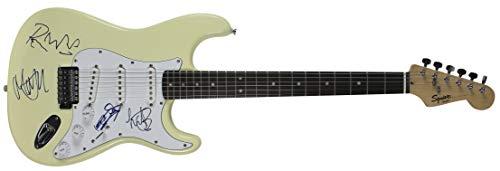 Rolling Stones (4) Jagger, Richards, Wood & Watts Signed Fender Guitar JSA -