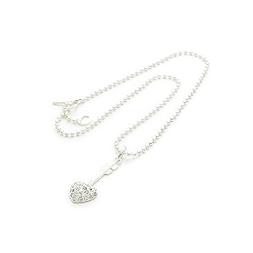 - Liberty Charms Sterling Silver Plated 'Arrow to My Heart' T Bar Charm Necklace