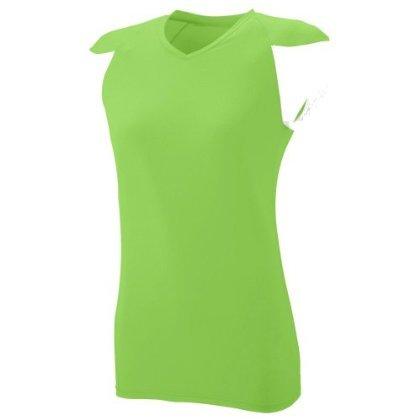 Augusta Sportswear Girl's Raglan Sleeves Sports Jersey, Lime/ White, Small
