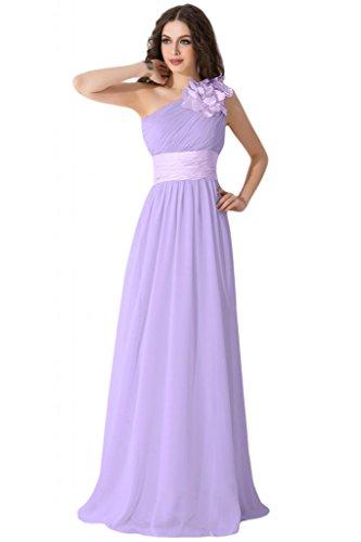 per d'onore abiti spalla damigella Sunvary abito Viola Graceful inclinata Gowns da qwgaEaC