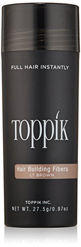 TOPPIK Hair Building Fibers, Light Brown, 0.97 oz.