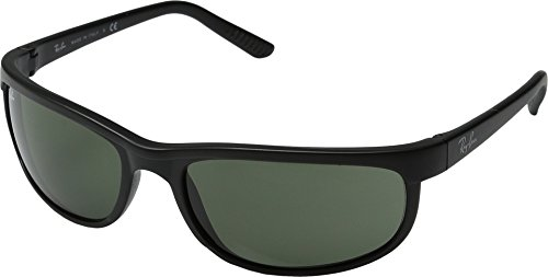 Ray-Ban PREDATOR 2 - BLACK/ MATTE BLACK Frame CRYSTAL GREEN Lenses 62mm - Ban Bifocal Ray Sunglasses