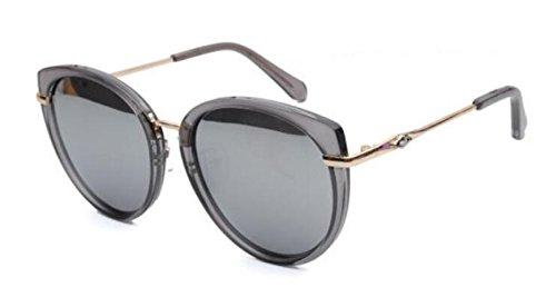 Gafas Sol Lady De Viaje De Comercial Round Cat Eye Gafas Sol De Silver 66qfwHrn