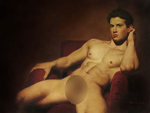 Art Prints Canvas Transfer Portrait Young Men Gay Art Sexy Male Nude HD Giclee Print for Home Decor Wall Art Giclee Limited Edition Print Signed (24