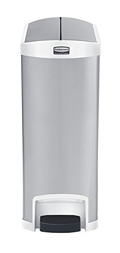 Slim Jim Stainless Steel Step-On Container, End Step Style,