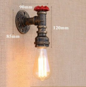 KA ONE Vintage Retro Antique Wall Light Lamp Sconce Industrial Wall Lamp Wipe Ceiling Lighting E27 Bulb (Bulb not included)