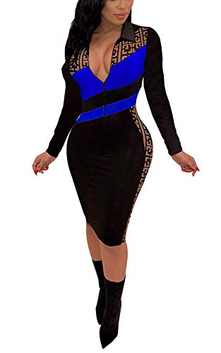 194a76244bbb0 Choichic Womens Bodycon Midi Dress - Sexy Colorful Short Sleeve Fitted Party  Outfits