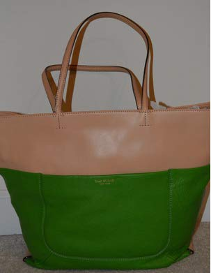 (Isaac Mizrahi Lillian Tote, Apple Green/Vachetta Trim)