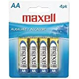 Aa Maxell Alkaline Batteries (4 Card)