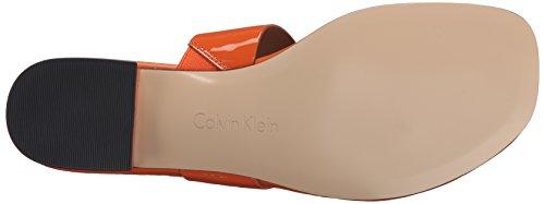 Calvin Klein Womens Aiden Flat Sandal Tangerine Os8bVgw