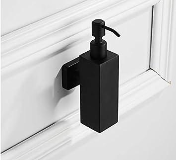 KYQ KYQXDB Suministros de baño Baño de Inodoro Dispensador de jabón Negro de Mano Montado en