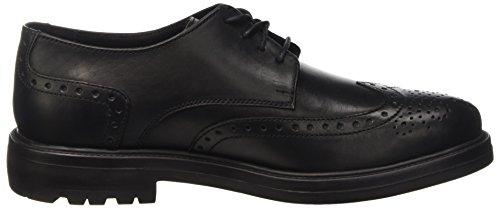 Lumberjack State, Zapatos de Cordones Derby para Hombre Negro