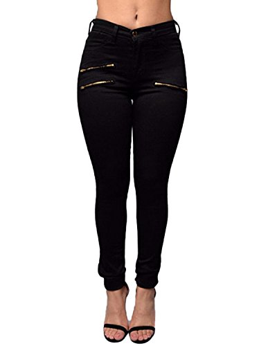 Donna Jeans Pants Sexy Auxo Nero Alta Legging Denim Vita 02 Stretchy Casual Skinny Pantaloni A RgHxxSwqd