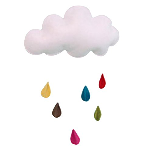 LUOEM Kids Room Decoration House Bedroom Hanging Pedants Cloud Raindrop Decor for Baby Shower (Raindrop)