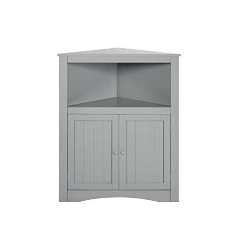 [RiverRidge Kids 02-141 2-Door Corner Cabinet, Gray] (Two Door Cabinet)