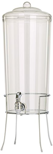 Buddeez Unbreakable Tritan Chilled Beverage Server with Chromed Wire Base, 2.25-Gallon (Clear Drink Dispenser compare prices)