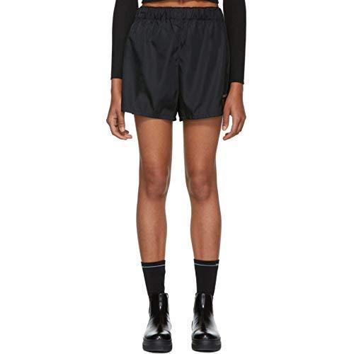 驚いたことに松の木ホイップ(プラダ) Prada レディース ボトムス?パンツ ショートパンツ Black Nylon Sporty Shorts [並行輸入品]