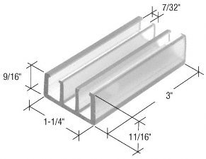 C.R. LAURENCE M6089 CRL Clear 1 1/4u0026quot; Wide Sliding Shower Door Bottom