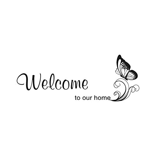 Beautiful Welcome Wall Decals, Removable DIY Butterfly Art Decor Wall Stickers Murals -