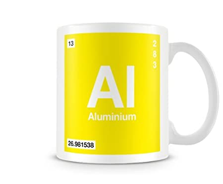 Periodic Table Of Elements 13 Al Aluminium Symbol Mug Amazon