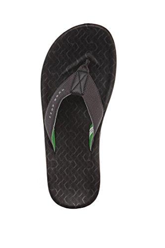 Hugo Boss Män Toe-separator Sandaler Med Logo Remmar: Strandlinje Solsken Svart