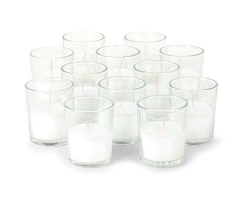 KISCO CANDLES: 8 Hour Votive Candles with Holders