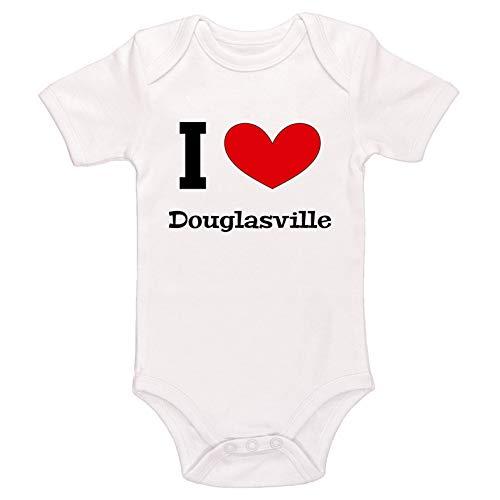 (Kinacle I Love Douglasville Baby Bodysuit (3-6 Months,)