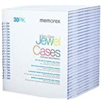 CD JEWEL CASES 30 PACK CLEAR SLIM
