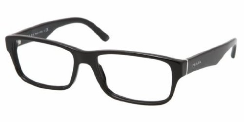 Prada Men's PR 16MV Eyeglasses Gloss Black 55mm