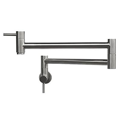 Geyser GF45-B Stainless Steel Pot Filler Kitchen Faucet Wall Mount 2 Handles