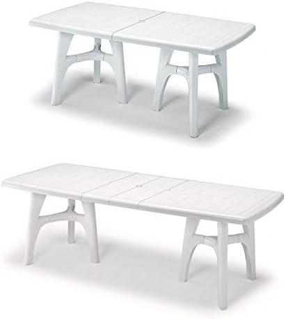 Mesa para exterior antracita, mesa para jardín extensible de plástico: Amazon.es: Hogar