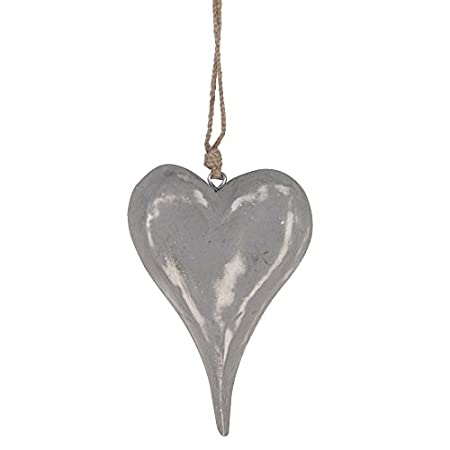 Large Grey Wooden Hanging Heart Amazoncouk Kitchen Home