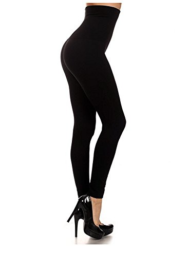 Enimay Women's Compression Leggings High Waist Tummy Control Gym Yoga Pants Black