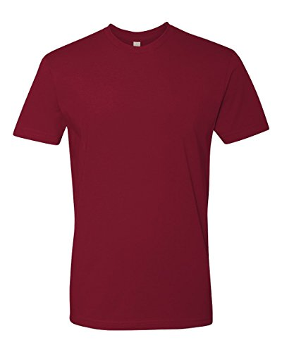 Next Level Mens Premium Fitted Short-Sleeve Crew T-Shirt - Medium - Cardinal