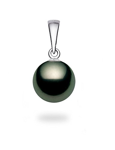 14K-White-Gold-AA-Quality-Black-Tahitian-Cultured-Pearl-Pendant