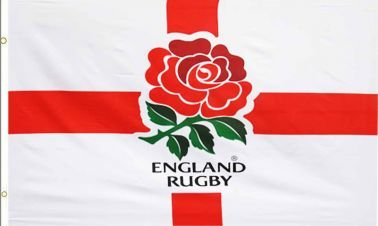 Rugby Six Nations England Rugby RFU Crest Flag (England Cross Rugby)