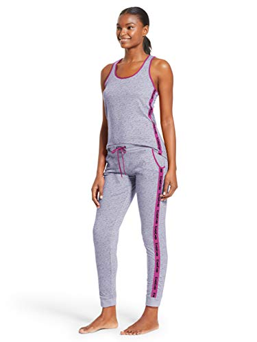 bebe Womens Racerback Tank Top and Skinny Pajama Pants Lounge Sleepwear Set Heather Grey Medium