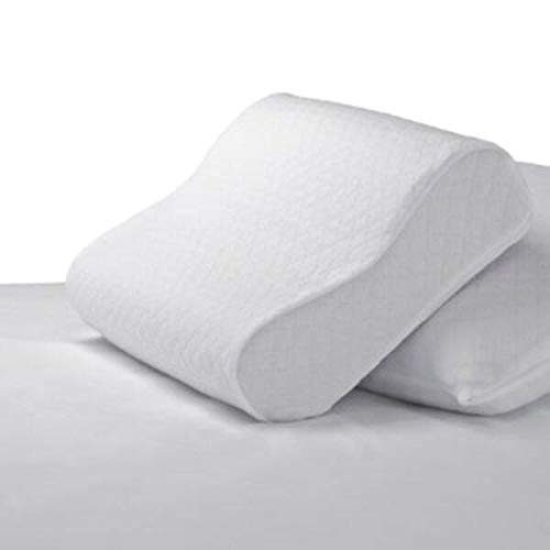 Healthy Nights Circular Knit Cool Finish Pillow Protector for Contour Memory Foam Pillows