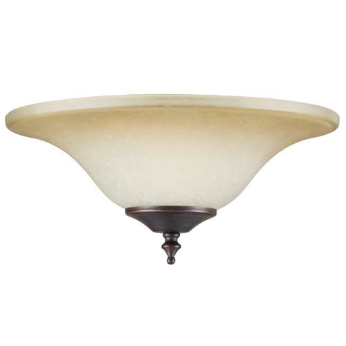 Concord Y-202S Glass Bowl Shade for Use with Y-2001 Fitter, Antique Amber Scavo by Concord Global Trading (Image #1)