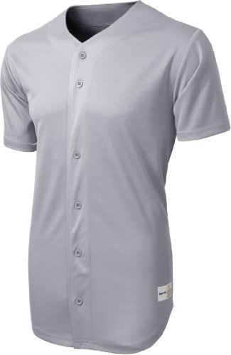 (Sport-Tek - PosiCharge Tough Mesh Full-Button Jersey. ST220 - Silver - X-Large)