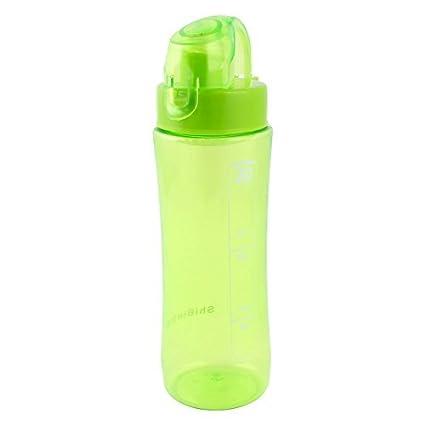 eDealMax plástico al aire Libre Deportes de agua portátil bebida Botella del sostenedor 600 ml Verde