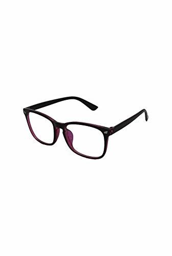 Finecy Homme taille In soleil Lens unique de Lunettes with Clear Frame Purple RxRXIdrqw