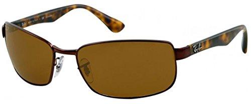 Ray-Ban Men RB3478 014/57 Polarized Sunglasses Brown Frame/Crystal Brown - Ray Ban Glasses Sunglasses