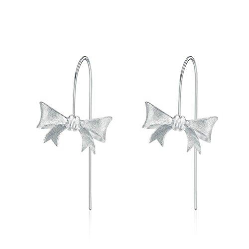 AmDxD Jewelry Silver Plated Women Stud Earrings Bowkont Drop (Celtic Skull Zippo Lighter)