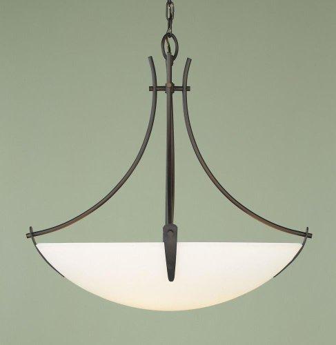 Asian Bronze Chandelier - Feiss F1889/3ORB Boulevard Glass Bowl Pendant Lighting, 3-Light, 300watts, Bronze (24