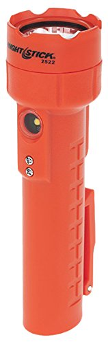 Nightstick NSR-2522RM Dual-Light Flashlight W/Dual Magnets - Rechargeable, Red Bayco