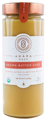 Ahara Rasa Brown Butter Organic Ghee 19oz, 100% Pure Grass Fed. (19 fl oz)