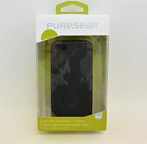 Puregear Horizontal Soft Case - PureGear Case with kickstand + holster for iPhone 5c